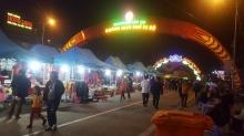 Cổng chào trang trí không gian phố đi bộ thành phố Lào Cai